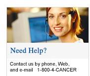 Need Help? Call 1-800-4-CANCER