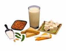 Fotografía de varios productos de la soja