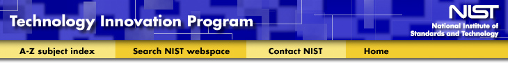 NIST Technolgy Innovation Program Banner
