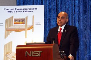 photo of Shyam Sunder at news briefing