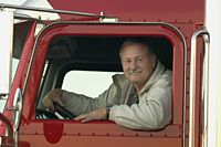 Image of a truck driver