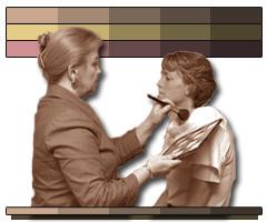 Image consultant applies makeup
