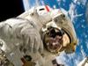Astronaut during spacewalk.