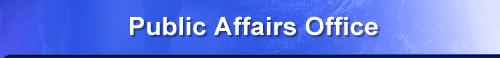Public Affairs Office banner