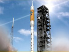 Artist concept of Ares I launch