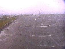 Hurricane Gustav lashes Michoud Assembly Facility