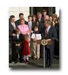 Photo: President Bush speaks at the Tax Family Reunion