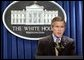 President George W. Bush makes a statement to the press on Libya agreeing to dismantle its weapons of mass destruction program on Friday December 19, 2003.  White House photo by Paul Morse
