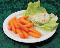 Baby carrots with hummus