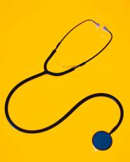 Photograph of a stethoscope