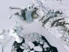 Landsat image of polar region ice