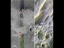 observation of mars indicating the presence of chloride salt deposits