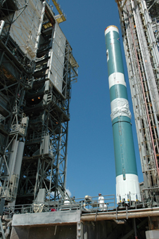 The Delta II rocket that will carry GLAST