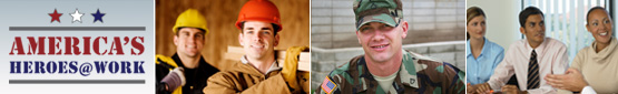 America's Heroes at Work logo and images of Workers