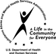 Iron Man Logo: U.S. Dapartment of Health and Human Services, Substance Abuse and Mental Health Services Administration, a life in the community for everyone