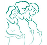 Line Art showing three pregnant women
