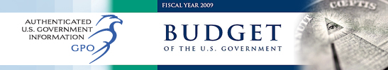 Authenticated Budget of the U.S. Government FY09