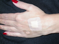Here's an example of two types of watertight bandages you can find in your local drugstore.