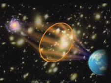 image showing gravitational lensing effect