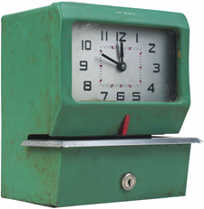 Image a timeclock