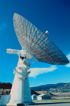 Image of a satellite dish