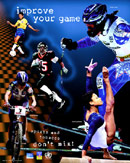 Improve Your Game—Sports and Toabcco Don't Mix! Poster That Features a Number of Olympic Athletes.