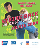 Strike Back Against Tobacco with Jackie Chan Poster