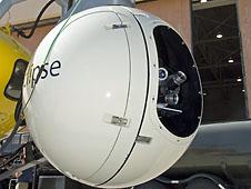 Lidar lenses seen in ALHAT ball-shaped housing