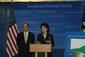 Secretary Chao and James B. Lockhart, Deputy Commissioner of Social Security