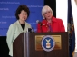 Secretary Chao and Assistant Secretary Ann L. Combs