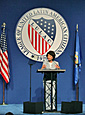 Secretary Chao addresses attendees of the League of United Latin American Citizens annual convention.