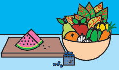 Elija una dieta rica en frutas y verduras.