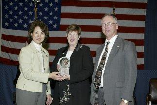 U. S. Labor Secretary Elaine L. Chao, Sue Moraska, Assistant Secretary W. Roy Grizzard