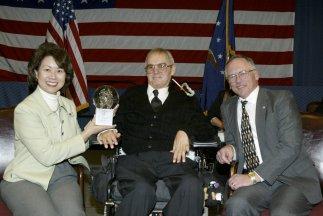 U. S. Labor Secretary Elaine L. Chao, Bruce Borden, Assistant Secretary W. Roy Grizzard