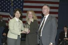 U. S. Labor Secretary Elaine L. Chao, Donna Walters Kozberg; Assistant Secretary W. Roy Grizzard