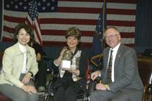 U. S. Labor Secretary Elaine L. Chao, Elaine Cooluris, Assistant Secretary W. Roy Grizzard