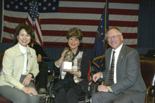U. S. Labor Secretary Elaine L. Chao, Elaine Cooluris, Assistant Secretary W. Roy Grizzard