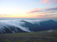 Photo of the White Mountains in New Hampshire which has the Mt. Washington Observatory, one of the monitoring stations.