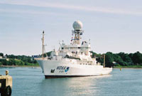 Photo of NOAA's Ronald H. Brown vessel which samples air quality
