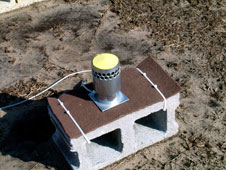 Disdrometers like this one measure rainfall rates and size distribution.
