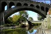 Picture of cemet bridge over water
