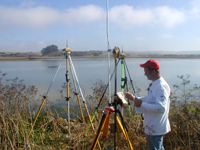 GPS observations are collected at Elkhorn Slough National Estuarine Research Reserve.