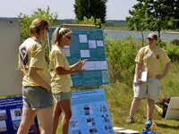 Oceanographers teach others about restoring marshes using tidal information.