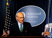 Department of Homeland Security Secretary Michael Chertoff speaks on State of Immigration and the No Match Rule at Ronald Reagan Building and International Trade Center Oct. 23 (DHS Photo/Lutz)