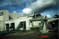 Frontal View of damaged Pachinko Building