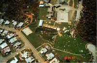 Some debris, mostly undamaged single-family dwellings