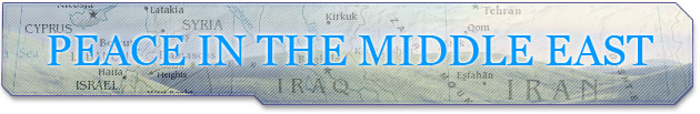 Road Map to Peace banner