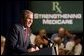 President George W. Bush remarks on improving prescription drug coverage in Minneapolis, Minn., during a full day of discussions about strengthening America's Medicare system Thursday, July 11.