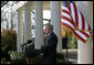 President George W. Bush delivers a statement on the budget Monday, Dec. 3, 2007, in the Rose Garden of the White House. White House photo by Eric Draper