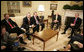President George W. Bush and Vice President Dick Cheney meet with automotive CEOs Tuesday, Nov. 14, 2006, in the Oval Office. From left are: Ford CEO Alan Mulally, Chrysler Group President and CEO Tom LaSorda, and General Motors Chairman and CEO Rick Wagoner.  White House photo by Kimberlee Hewitt